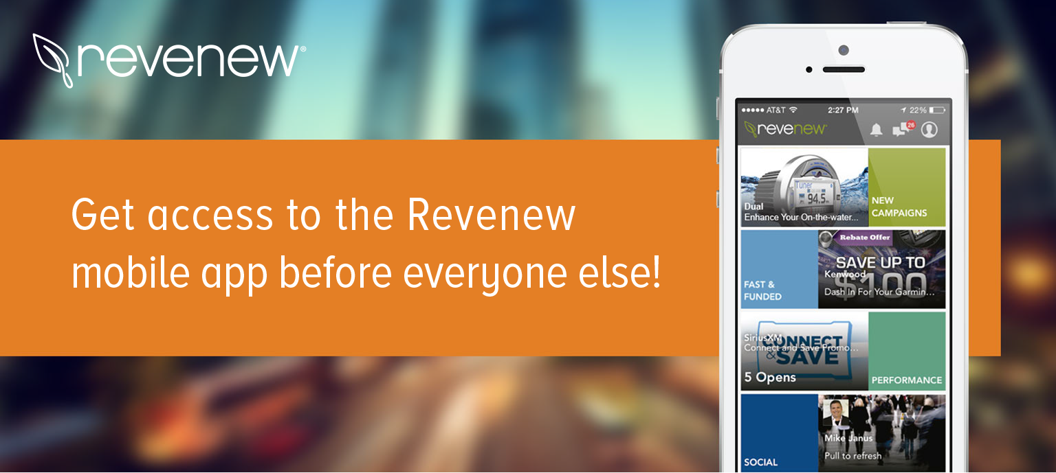 Iphone android ipad web - Getn Access To The Revenew Mobile App Before Everyone Else